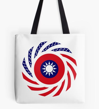 Taiwanese American Multinational Patriot Flag Series Tote Bag