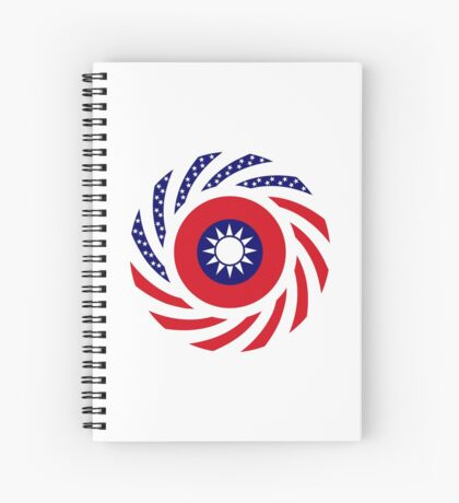Taiwanese American Multinational Patriot Flag Series Spiral Notebook