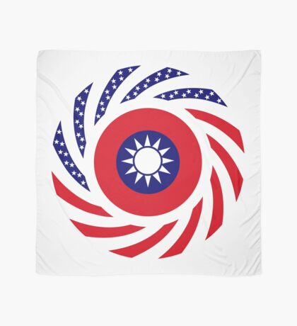 Taiwanese American Multinational Patriot Flag Series Scarf