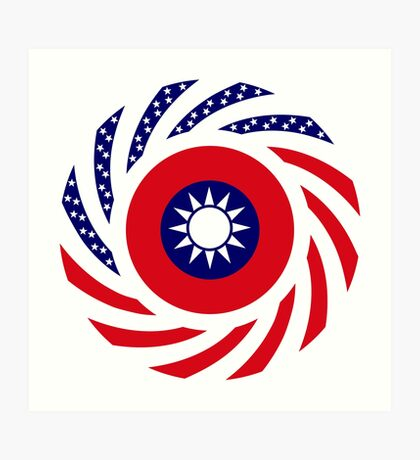 Taiwanese American Multinational Patriot Flag Series Art Print