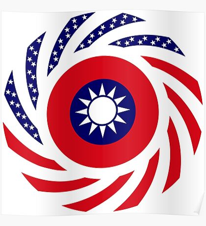 Taiwanese American Multinational Patriot Flag Series Poster