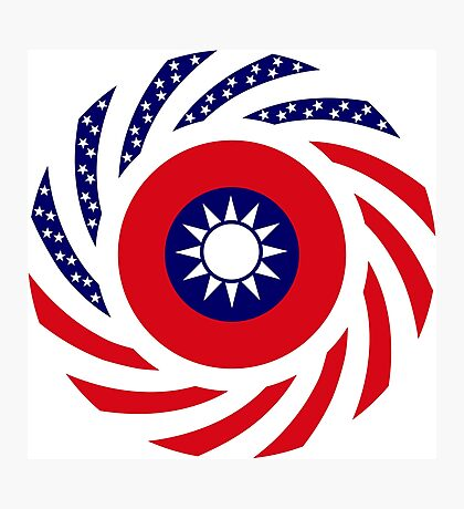 Taiwanese American Multinational Patriot Flag Series Photographic Print