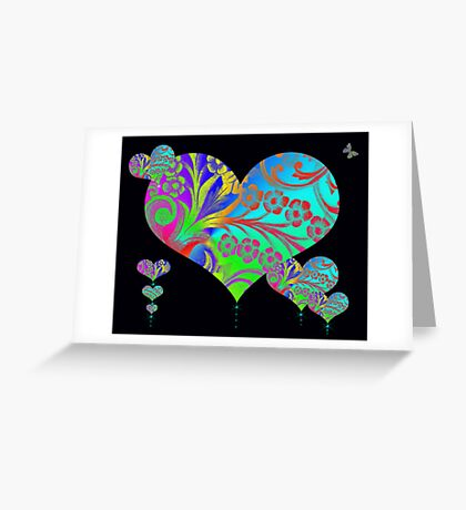 Hearts In Flight Greeting Card