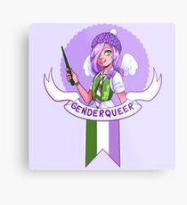 I was sorted into the Genderqueer House Metal Print