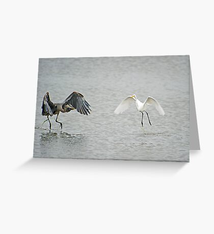 Collision Course Greeting Card