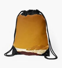 Golden Sunset Drawstring Bag