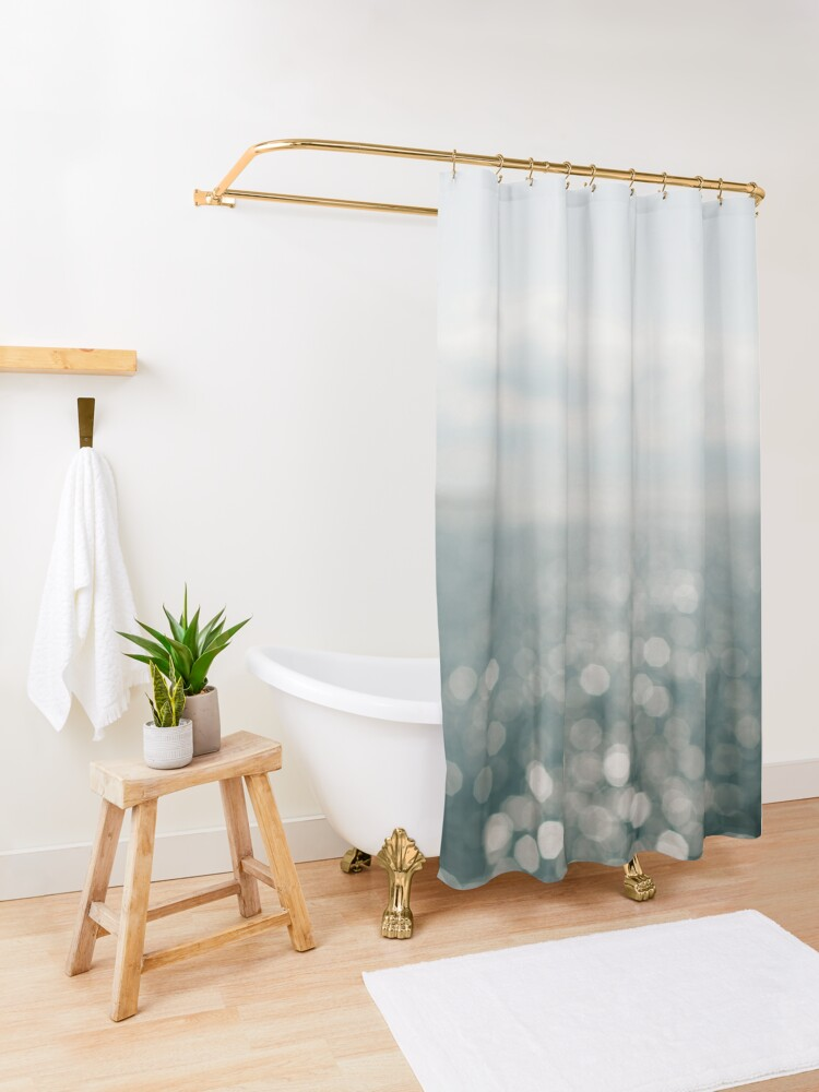 Alternate view of Pamlico Sparkle Shower Curtain