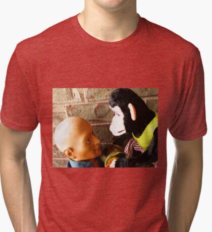 Dead-Staring Contest Tri-blend T-Shirt