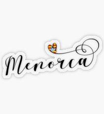Menorca Flag Heart, Balearic Islands  Transparent Sticker