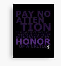Honor Canvas Print
