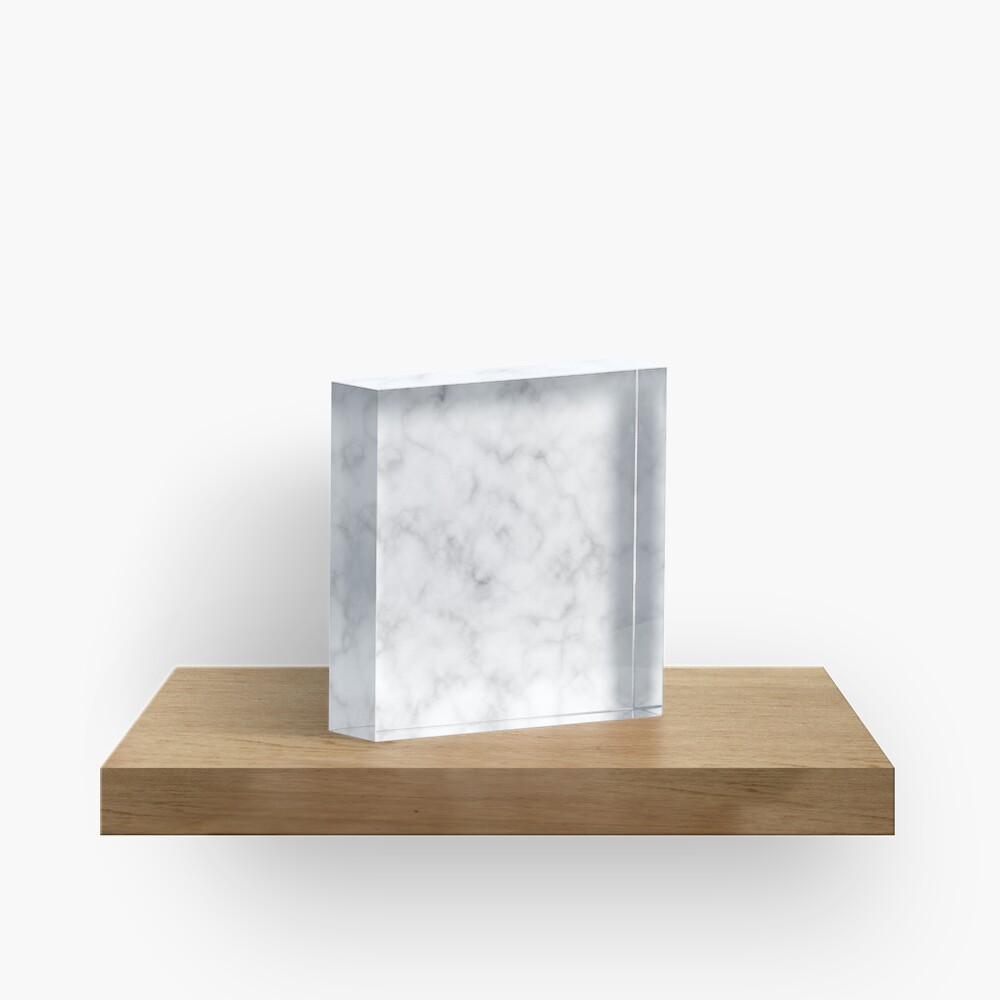 Light Grey Marble Acrylic Block