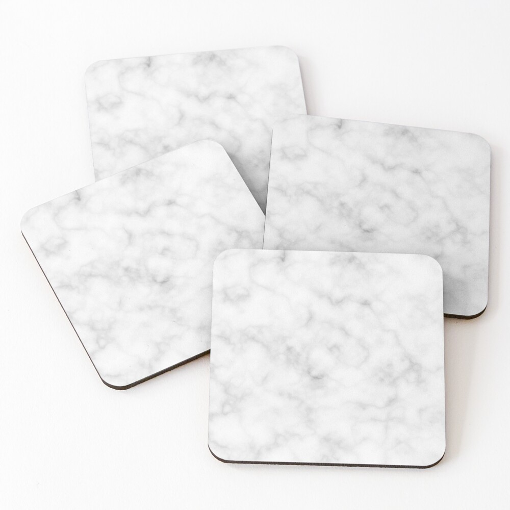 Light Grey Marble Coasters (Set of 4)