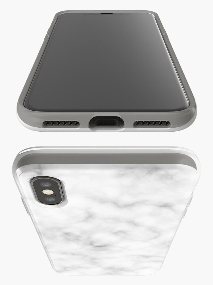 Alternate view of Light Grey Marble iPhone Case & Cover