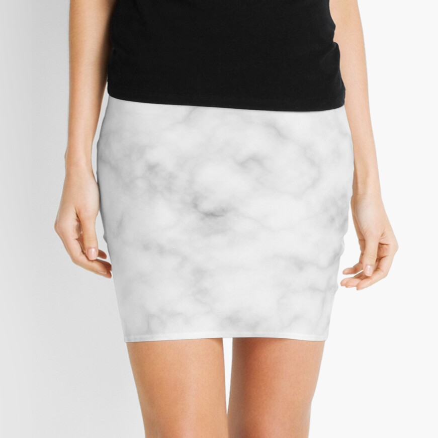 Light Grey Marble Mini Skirt