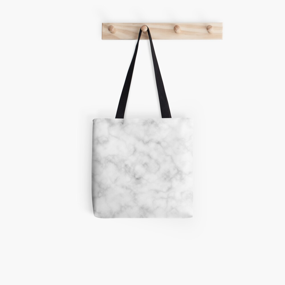 Light Grey Marble Tote Bag