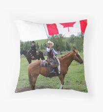 Bar U Ranch - Canada Day 2010 Throw Pillow