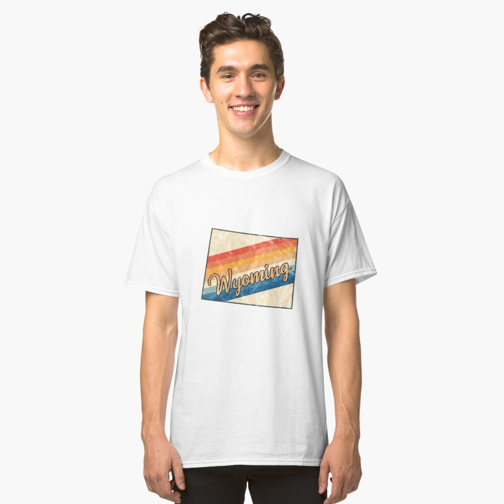 Wyoming State | Colorful Retro 70s Design Classic T-Shirt