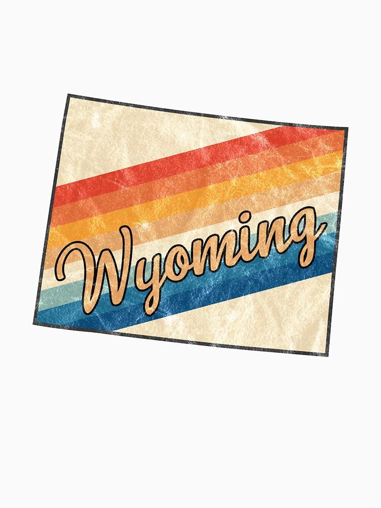 Wyoming State | Colorful Retro 70s Design von PraiseQuotes