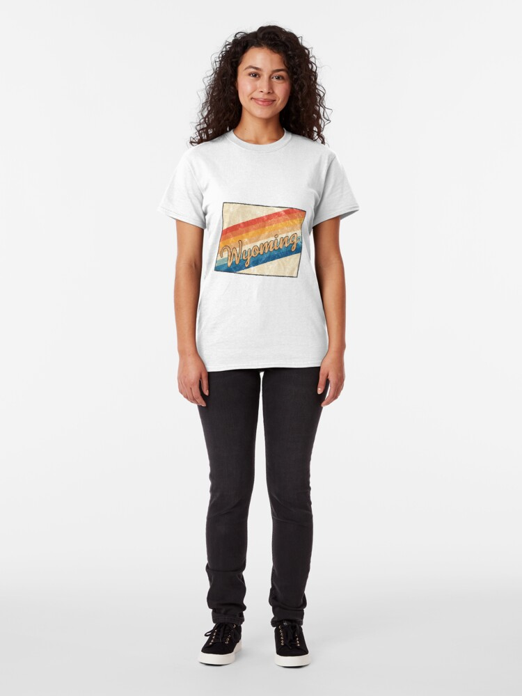 Alternative Ansicht von Wyoming State | Colorful Retro 70s Design Classic T-Shirt