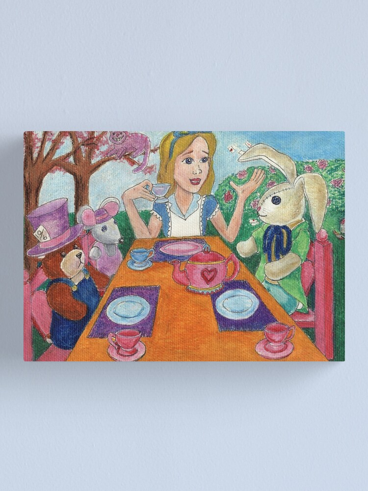 Alternate view of Tea Time with Alice in Wonderland Canvas Print