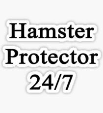 Hamster Protector 24/7  Sticker