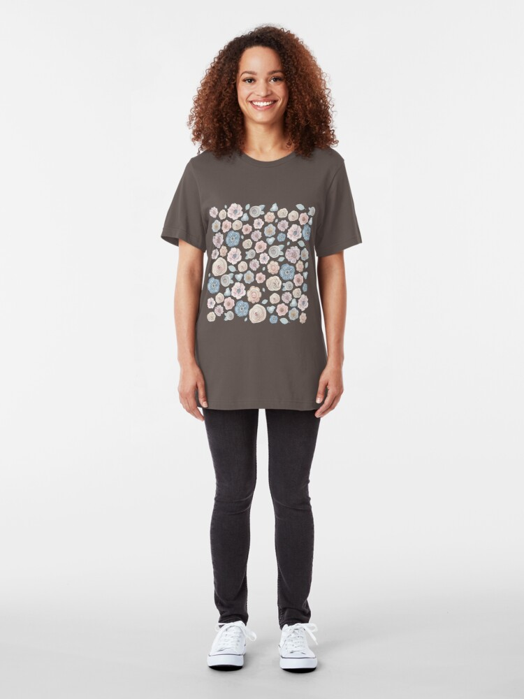 Alternate view of antique floral Slim Fit T-Shirt