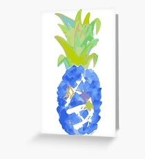 Pineapple Blues Greeting Card