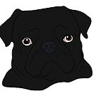 Black Pug by rmcbuckeye