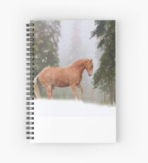 Christmas Horse Spiral Notebook