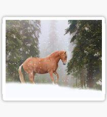 Christmas Horse Sticker