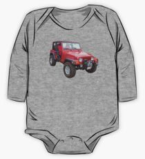 Red Jeep Wrangler Rubicon 4x4 One Piece - Long Sleeve