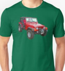 Red Jeep Wrangler Rubicon 4x4 Unisex T-Shirt