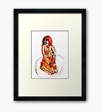 Clown Girl Framed Print
