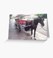 Natchez Carriage Rides - Natchez, Mississippi Greeting Card