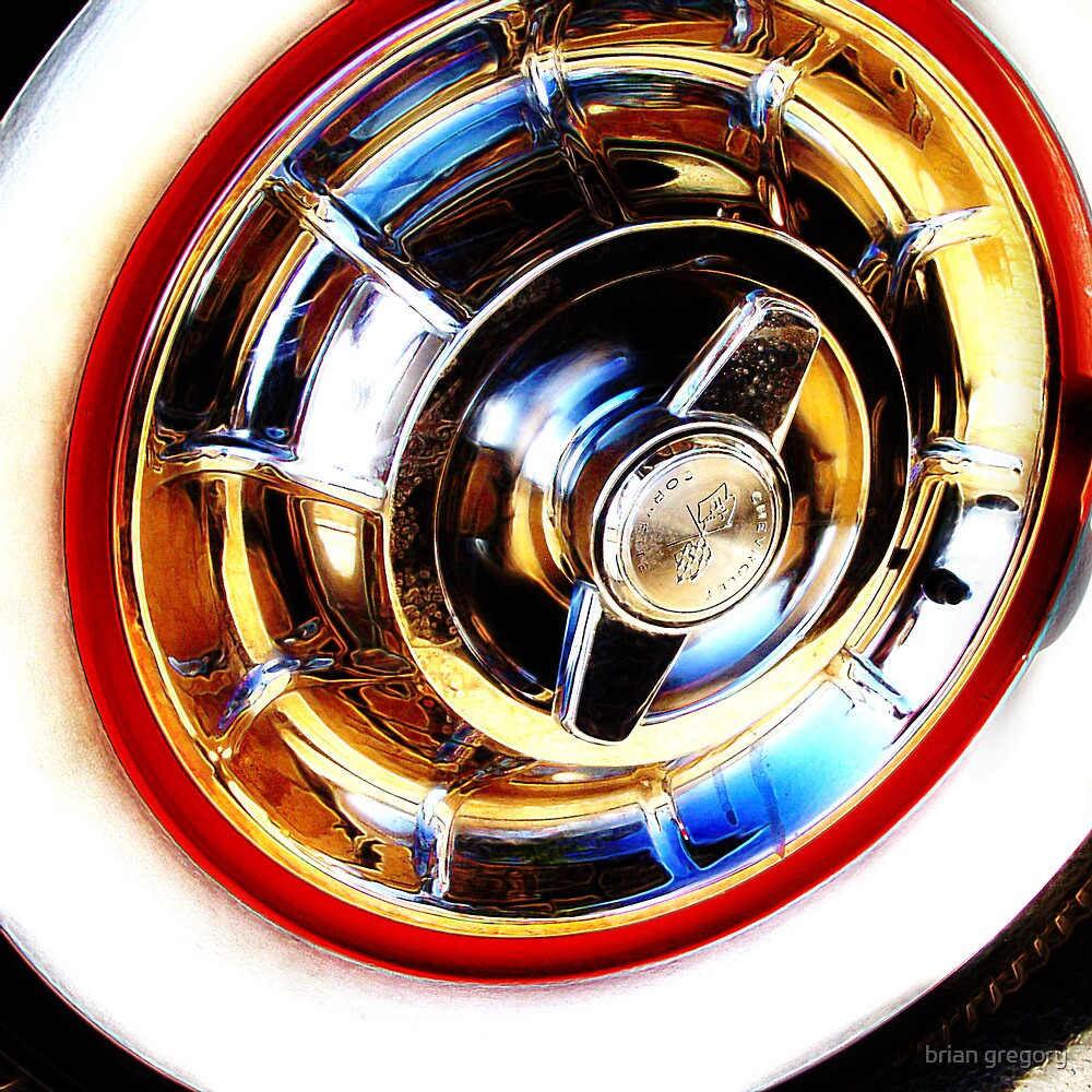 corvette hubcap by brian gregory
