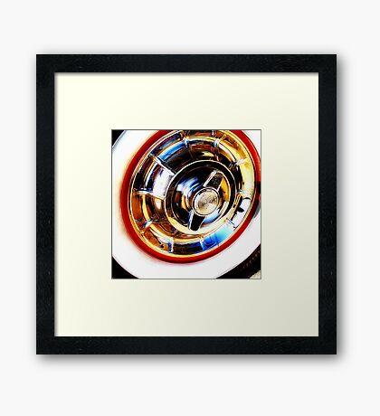 corvette hubcap Framed Print