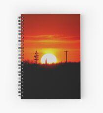 Manitoba Sunset Spiral Notebook