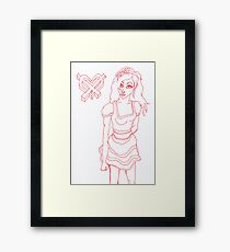 Graffiti high tea Framed Print