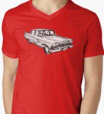 1958 Plymouth Savoy Classic Car Illustration T-Shirt