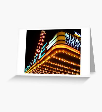 esquire theater, chicago Greeting Card