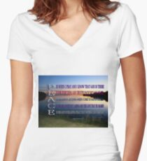 ✿♥‿♥✿PEACE.. A POEM WRITTEN BY BONITA✿♥‿♥✿ Women's Fitted V-Neck T-Shirt