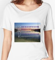 ✿♥‿♥✿PEACE.. A POEM WRITTEN BY BONITA✿♥‿♥✿ Women's Relaxed Fit T-Shirt