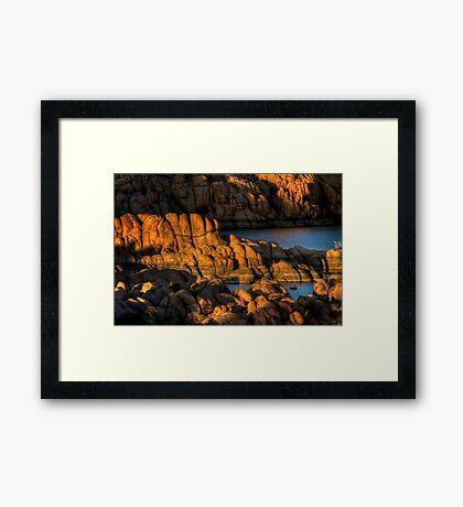 Light Play On Watson Lake Framed Print