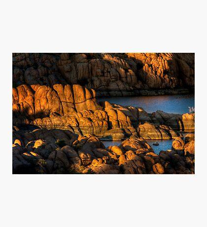 Light Play On Watson Lake Photographic Print