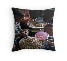 Sorting Garlic Throw Pillow