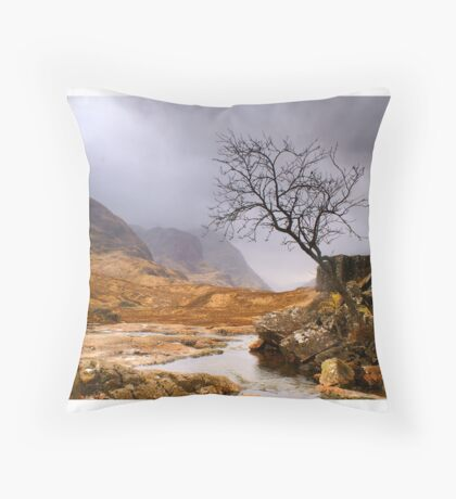 Lone Tree at Three Sisters (viewed 1841 times 4th Aug 2015) Throw Pillow