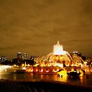 Early Autumn Evening at Buckingham Fountain  by MarjorieB