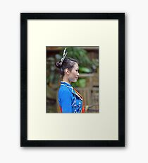 Traditional Chinese fashion Framed Print