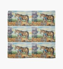 Horseshoeing Day is Here watercolor Scarf