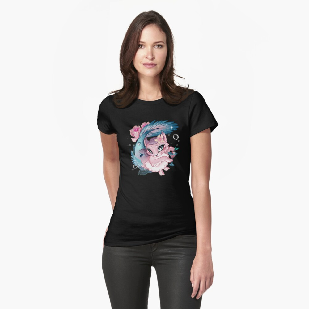 Pretty Little Purrmaid Fitted T-Shirt